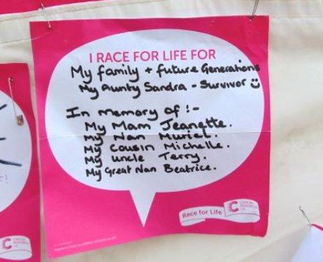 Race For Life Bridgend 2015: The Messages