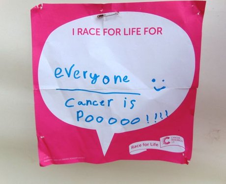 Race For Life Bridgend 2015: The Messages