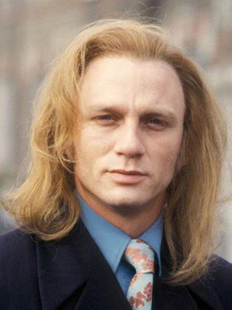 Daniel Craig with long hair