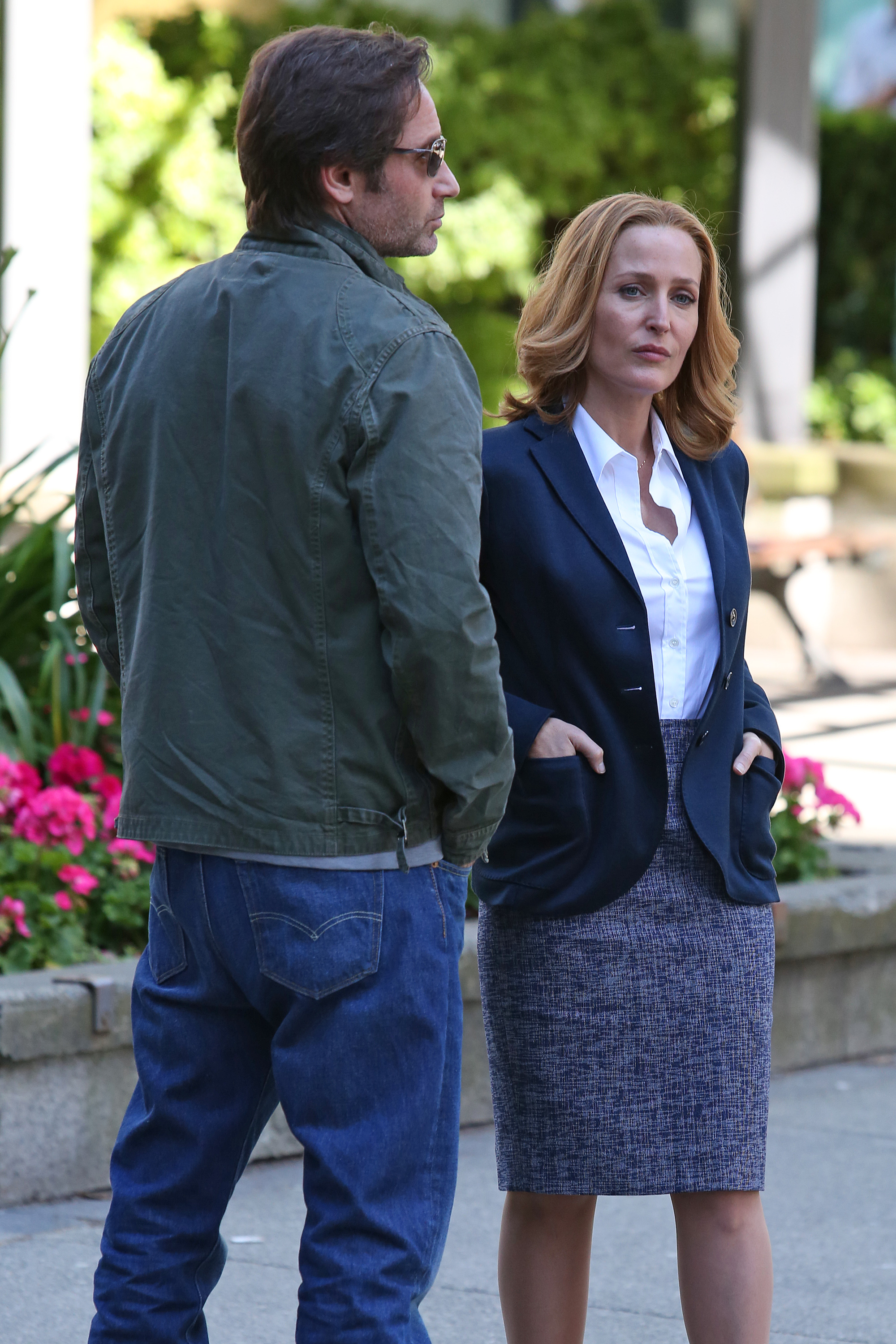 David Duchovny and Gillian Anderson
