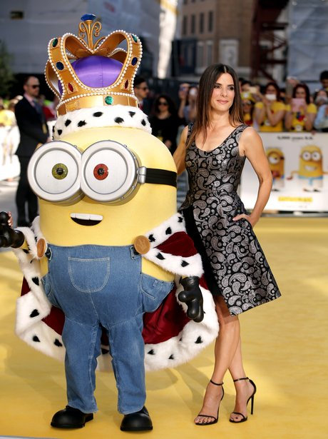 Sandra Bullock on the yellow carpet