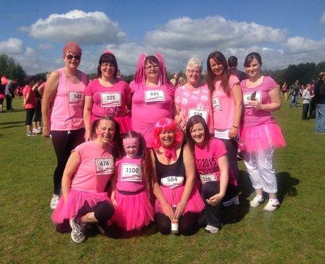group of ladies in lots of pink