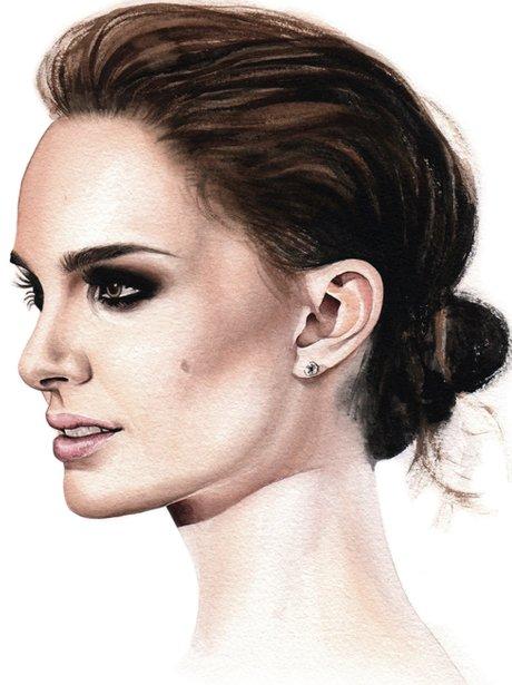 Natalie Portman watercolour by Davide Morettini