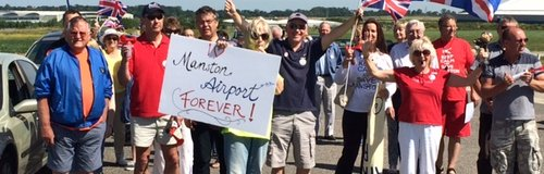 Protestors at Manston