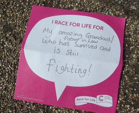 Race For Life Llanelli 2015: The Messages