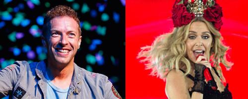 Kylie Minogue Chris Martin split canvas