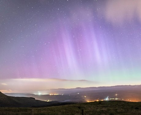 Northern Lights over Wales