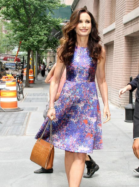 Andie MacDowell in New York