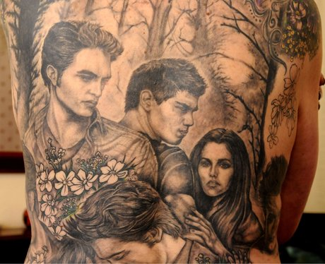 The cast of 39 twilight 39 craziest fan tattoos of all time for Twilight movie tattoo