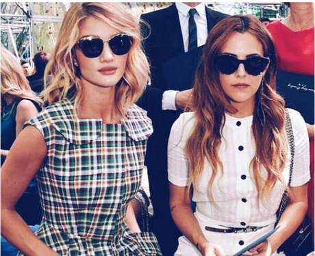 Rosie Huntington-Whitely and Riley Keough Instagra