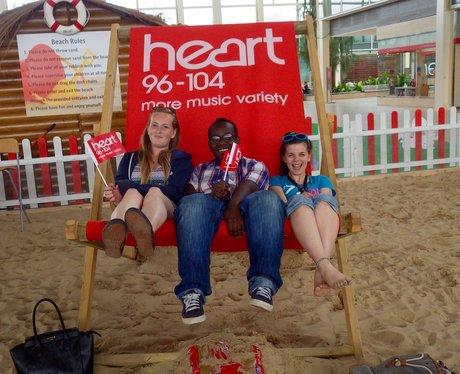 Summer Beach at the centre:mk 2015