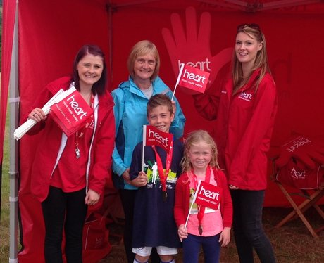 Some of the runners visit the Heart tent