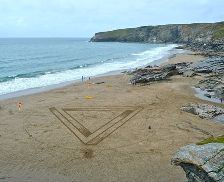 Sand Circles and Shapes
