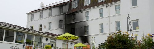The smoke damaged hospice