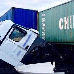 A14 crash lorry 2