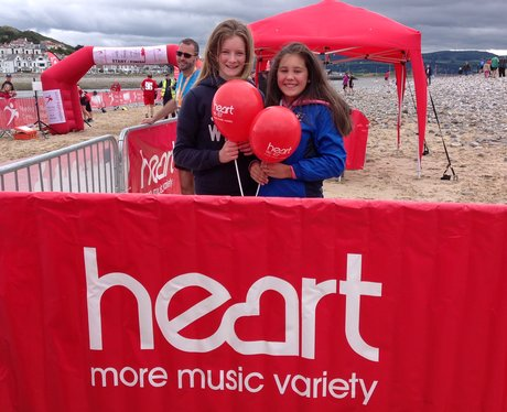 Heart fans with Heart balloons