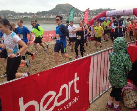 runners starting the half marathon