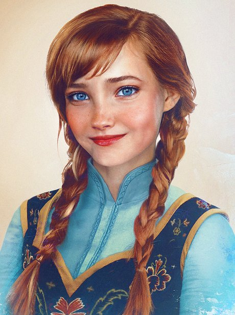 disney princesses with brown hair