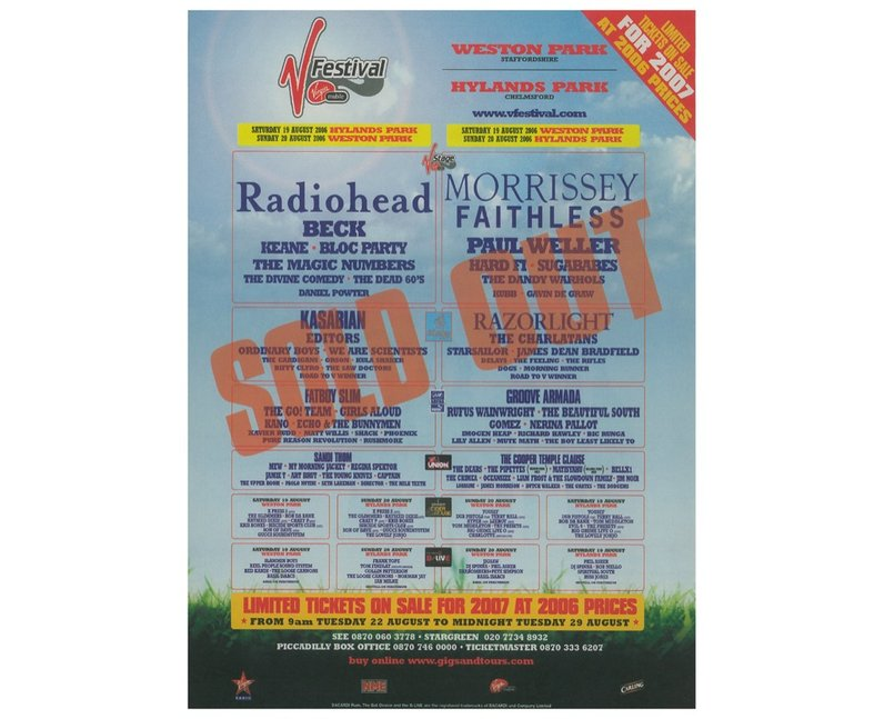 V Festival: Twenty Years Of Posters