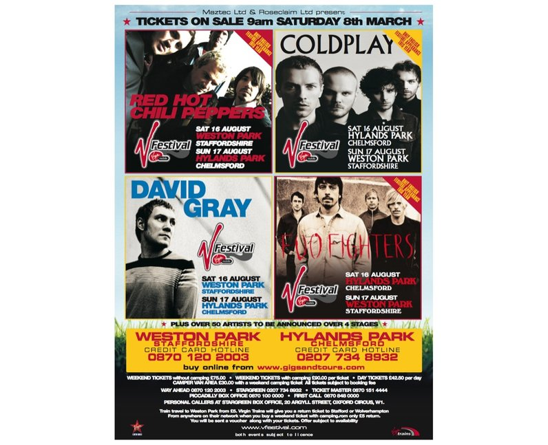 V Festival Posters Through The Years