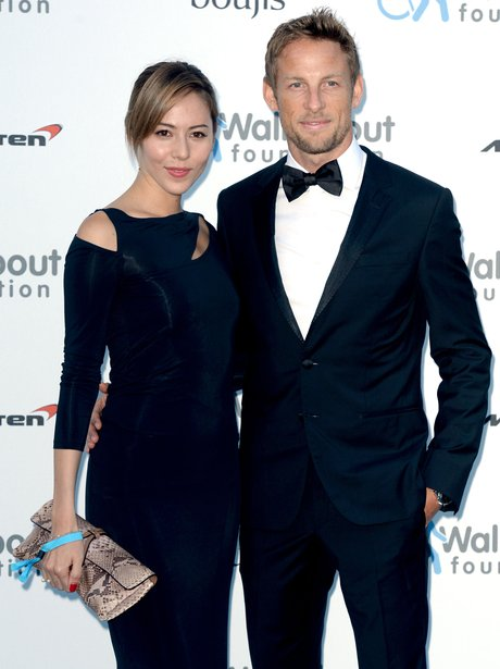 Formula One driver Jenson Button and his wife Jess