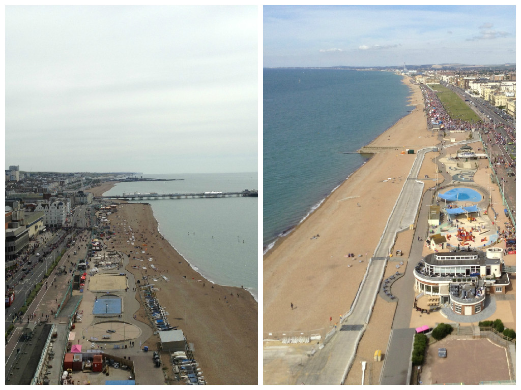 Views east and west from 80m up!