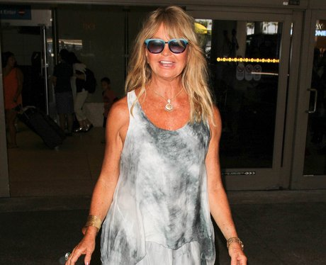 Goldie Hawn at Lax Airport