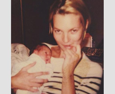 Kate moss with a baby