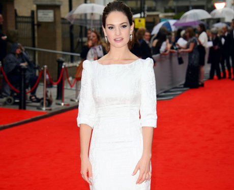Lily James wears ladylike white gown at BAFTA tribute for Downton Abbey. - Best... - Heart