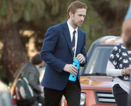 Ryan Gosling on set La La Land