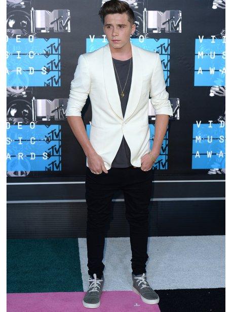 Brooklyn Beckham at the VMAs 2015