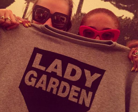 Cara Delevingne Lady Garden Instagram
