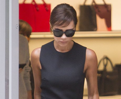 Victoria Beckham with new hair fringe