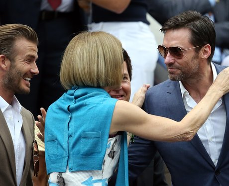 David Beckham, Anna Wintour and Hugh Jackman