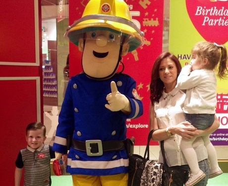 Fireman Sam took a break from putting out fires fo