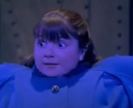 Violet Beauregard as a blueberry in ''Willy Wonka & The ...