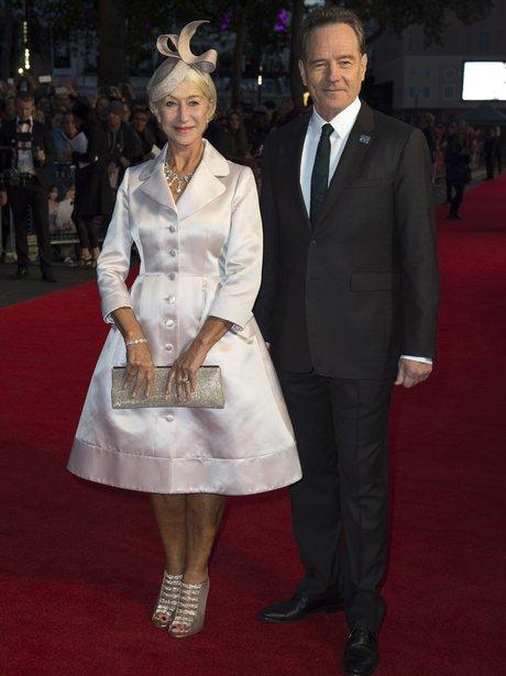 Helen Mirren and Tom Hanks at a premiere