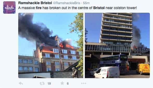 Bristol Fire 12th Oct 2015