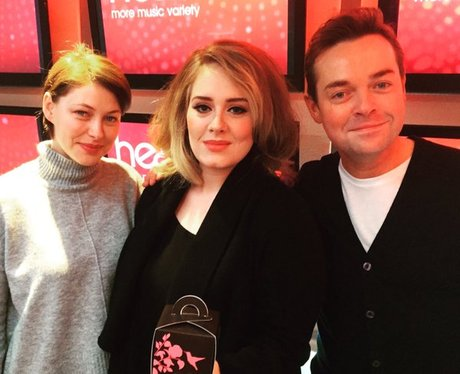 Adele with Stephen Mulhern and Emma Willis