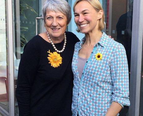 Angela Baker Calendar girl and her counterpart