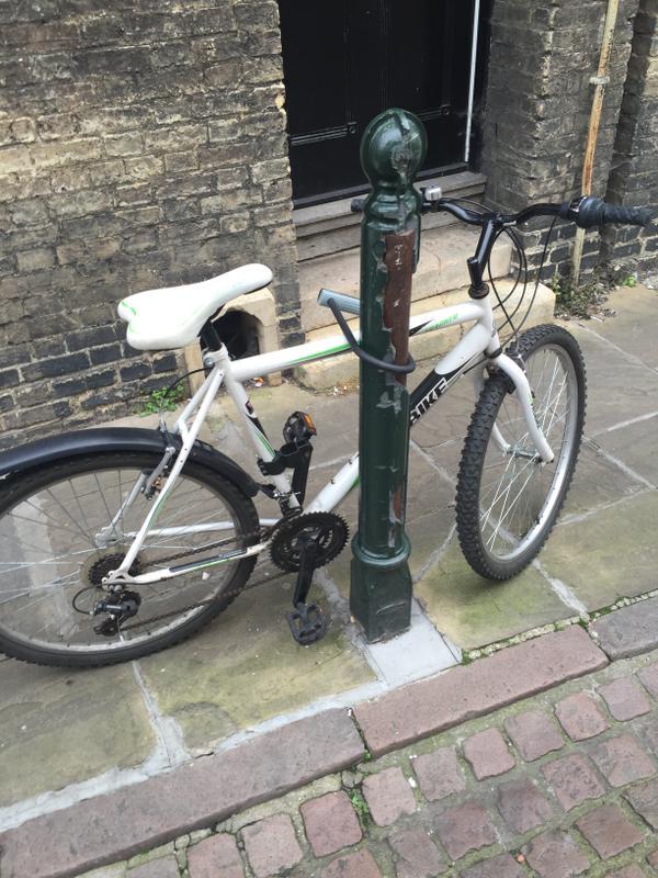 Badly parked bike Cambridge