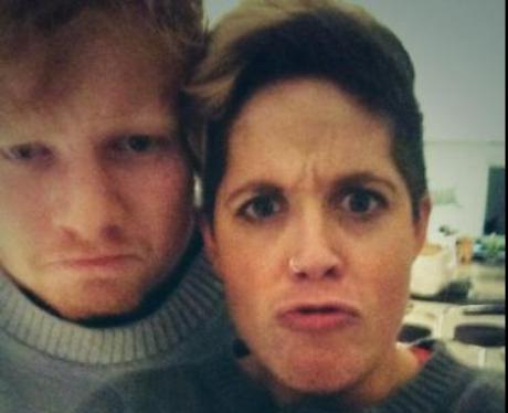 Ed Sheeran and Amy Wadge