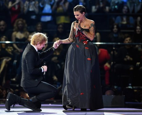 Ed Sheeran and Ruby Rose MTV EMA's 2015