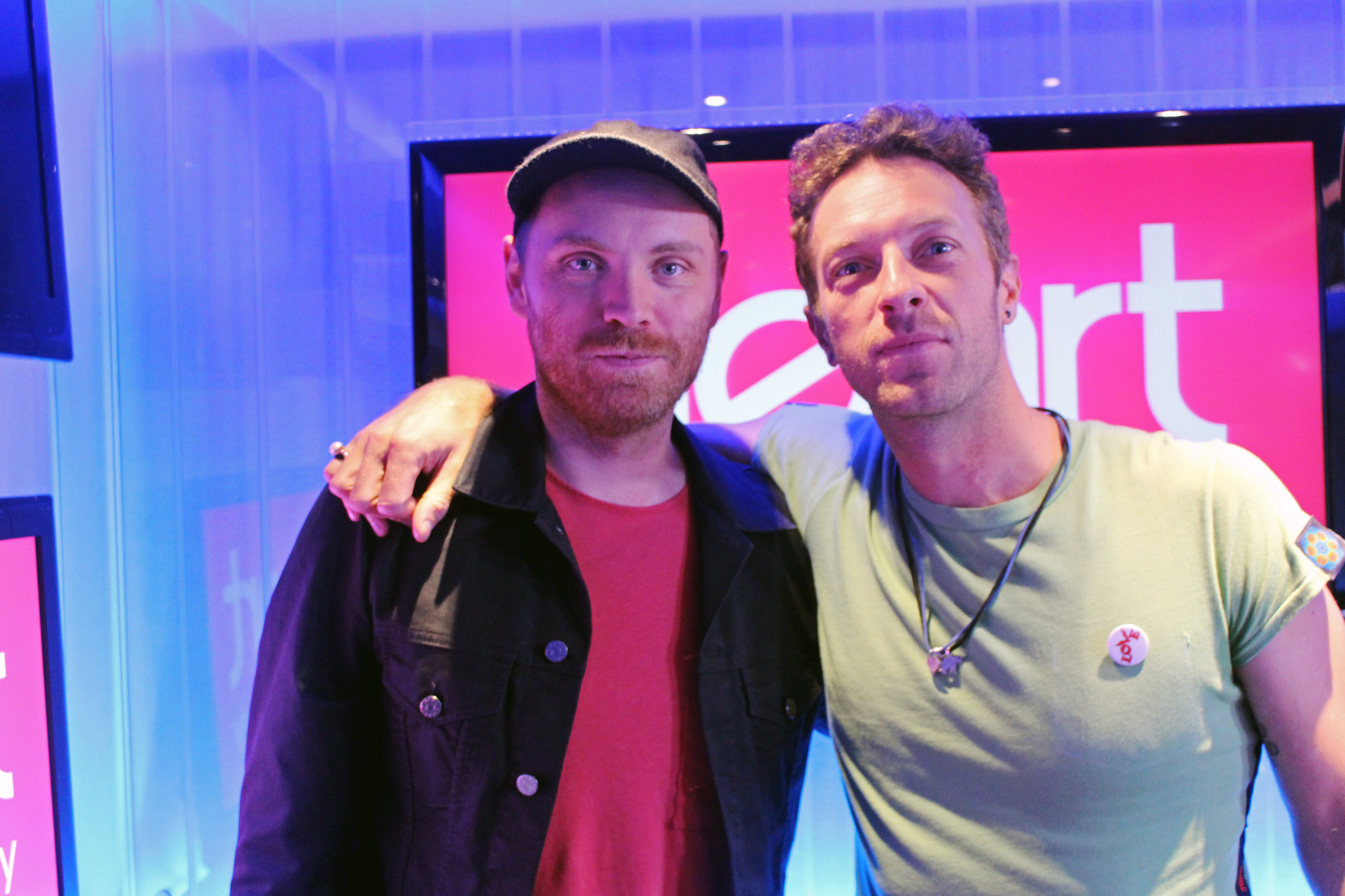 Coldplay in the studio