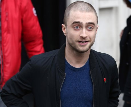 Daniel Radcliffe with shaved head