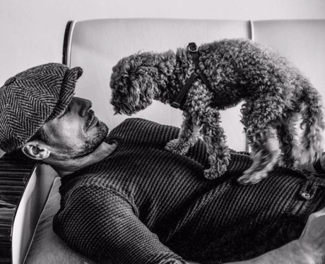 David Gandy and His Dog