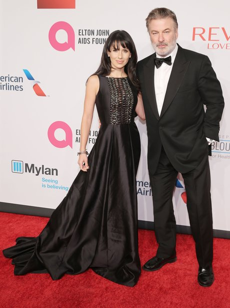 Hilaria Baldwin and Alec Baldwin on the red carpet