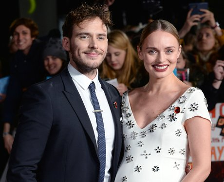 Laura Haddock and Sam Claflin Hunger Games Premier