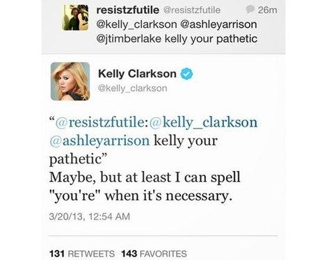 Twitter Trolls : Kelly Clarkson