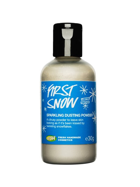 first snow lush cosmetics pr shot